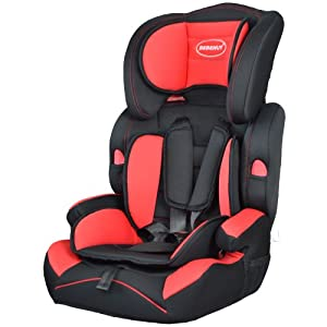Convertible Baby Car Seat & Booster 9-36 kg Group 1-2-3,Red/Black