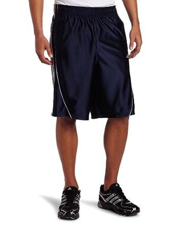 adidas Men's Basic 3-Stripes Short, Dark Navy/White, XX-Large