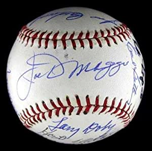 Joe DiMaggio Signed Baseball - 16 Old Timers W George HW Bush Whitey Ford PSA LOA -... by Sports Memorabilia
