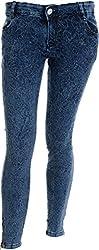 EBONY Women's Slim Jeans (373_28, Blue, 28)