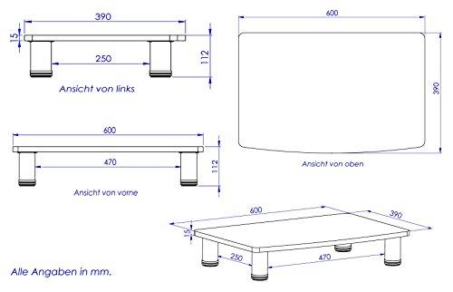 ricoo fernsehtisch lcd tv stands fernsehstand fs051b led. Black Bedroom Furniture Sets. Home Design Ideas
