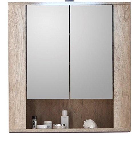 Trendteam mobiletto da bagno con ante a specchio 70 x 75 - Mobiletto con specchio per bagno ...
