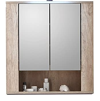 Trendteam mobiletto da bagno con ante a specchio 70 x 75 - Mobiletto con specchio ...