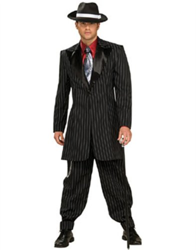 Adult Large Gangster Pin Stripe Costume Zoot Suit 44-46