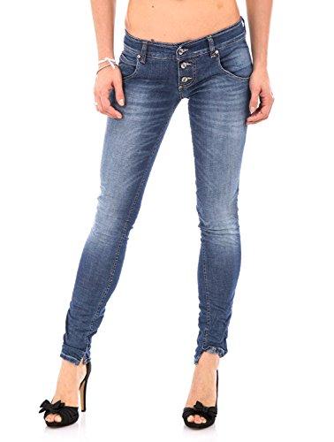 PLEASE - P83 jeans da donna stropicciato m denim scuro