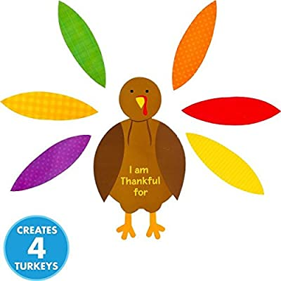 Amscan Festive Fall Thanksgiving Party Turkey Craft Kit Activities, Multicolor by TradeMart Inc.