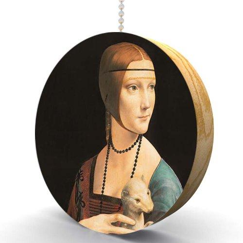 Da Vinci Lady With Ermine Hardwood Oak Fan / Light Pull front-1061894