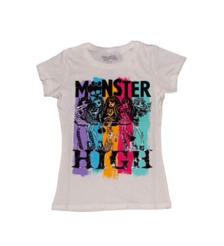 Monster High 5 Character Girls T-shirt