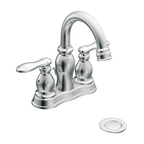 Moen Caldwell Chrome 2-Handle WaterSense Bathroom Faucet (Drain Included)