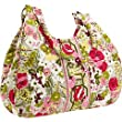 Vera Bradley Large Hobo Make Me Blush Purse Handbag Bag