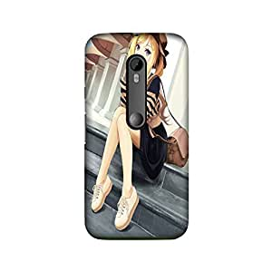 StyleO Girl with Book back cover for Moto G3 (3rd Gen)