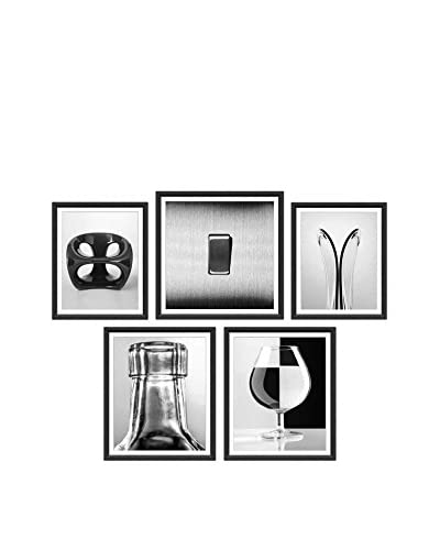 5-Piece Wall Art Collection, Bottles/Glasses