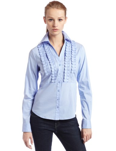 Rafaella Womens Silky Cotton Long Sleeve Shirt