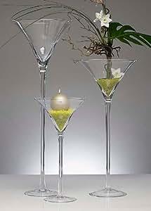 xxl martiniglas glas kelch riesenglas glasvase blumenvase bodenvase riesig gro ca 70 cm. Black Bedroom Furniture Sets. Home Design Ideas