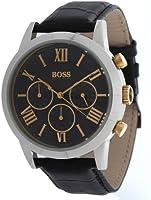 Hugo Boss - 1512729 - Montre Homme - Quartz Chronographe - Cadran Noir - Bracelet Cuir Noir