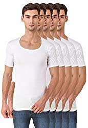 HAP Kings White Roundneck Half Sleeve Cotton Vest / Undershirt (Pack of FIVE)