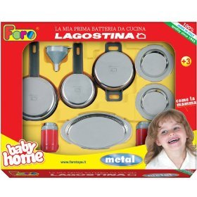 Pretend play toy kitchen products lagostina for Lagostina kitchen tool set 8 pc