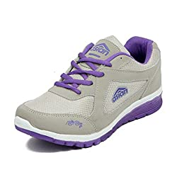 Asian Shoes Ladies BUTTERFLY 01 Light Grey Purple Shoes 4 UK/Indian