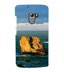 printtech Sea Ocean Rock Back Case Cover for Lenovo K4