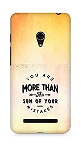 AMEZ you are more than the sum of your mistakes Back Cover For Asus Zenfone 5