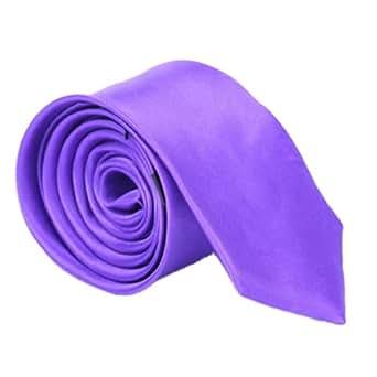 EOZY 1Pc Homme Cravate Soie Polyamide pour La Plupart d'Occasion Violet