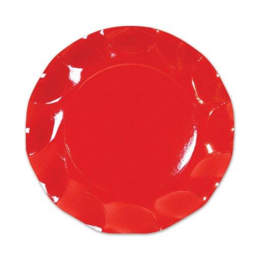 Red Large Plates (10/Pkg)