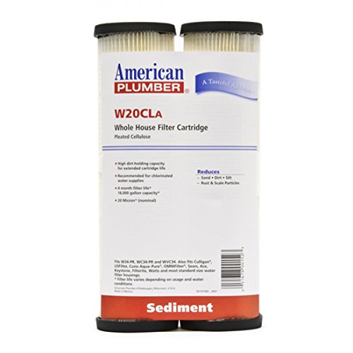 American Plumber W20CLA Whole House Sediment Filter Cartridge 20 Micron Well Pump Irrigation (2) (Plumbers Pump compare prices)