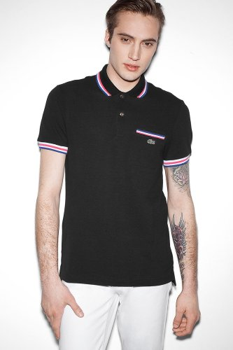 Live Short Sleeve Solid Pique Polo With Chest Pocket And Tipping