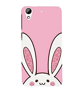 Cute Rabbit 3D Hard Polycarbonate Designer Back Case Cover for HTC Desire 626 :: HTC Desire 626 Dual SIM :: HTC Desire 626S :: HTC Desire 626 USA :: HTC Desire 626G+ :: HTC Desire 626G Plus