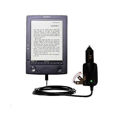 Car and Home 2 in 1 Combo Charger for the Sony PRS-500 Digital Reader Book &#8211; uses Gomadic TipExchange Technology