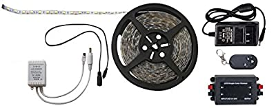 Diamond Group 52686-RF White 16' LED Strip Light with RF Remote