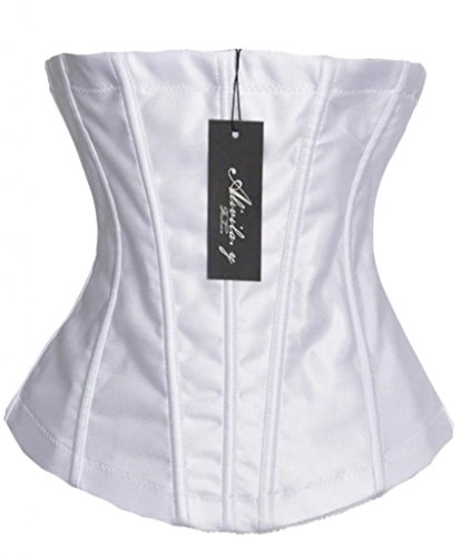 Alivila.Y Fashion Lace Bridal Underbust Corset 2269B-White-3XL