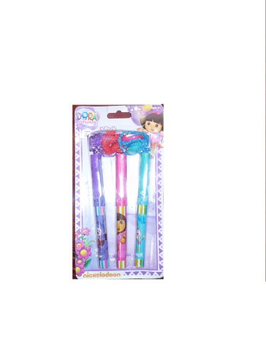Dora the Explorer 3 Clip Pens with Rope by Nickelodeon