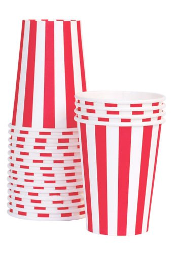 Paper Eskimo Party Cups, Candy Cane Red, 12-Pack