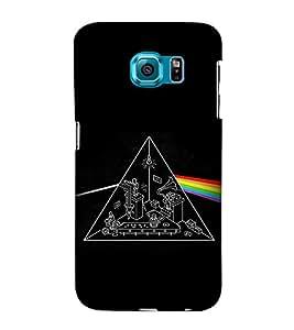 EPICCASE Prism rainbow Mobile Back Case Cover For Samsung Galaxy S6 Edge (Designer Case)