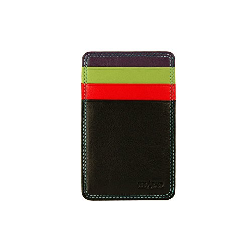 belarno-black-rainbow-leather-flat-card-case-wallet-w-id-window