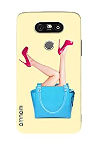 Omnam Girl Legs Coming Out Of Purse Printed Designer Back Cover Case For LG G5