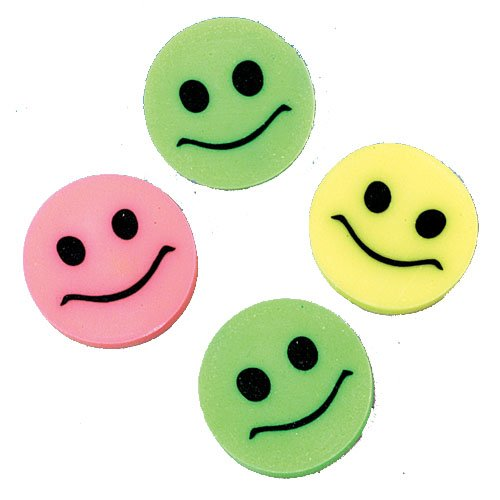 S&S Worldwide Smile Mini Erasers (Pack of 144)