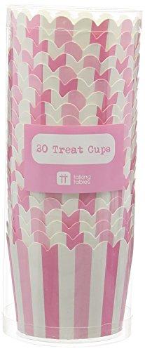 Talking Tables MIX-TREATCUP-PK Mélanger et Assortir Pack de 20 Tasses Cadeaux Papier Rose 6,2 x 6,2 x 15 cm