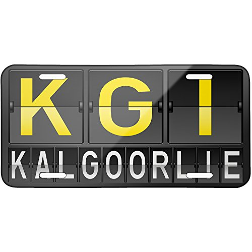 metal-license-plate-kgi-airport-code-for-kalgoorlie-neonblond