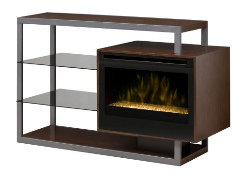 Dimplex Hadley Electric Fireplace Media Console with Glass Embers in Walnut - GDS25G-1307WN photo B00F5G7R1Y.jpg