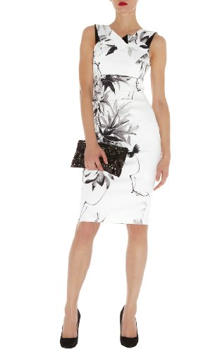 Oriental Floral Print Dress