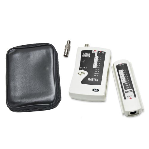 Syba 2 Piece Multi Network Cable Tester for RJ45, RJ-11, RJ-12, Coaxial, and Modular Cables (SY-ACC65050)