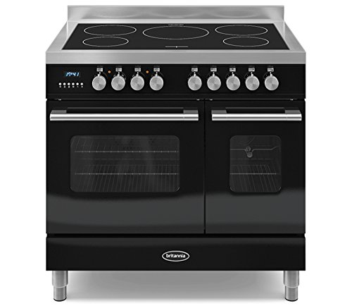 Britannia RC-9TI-DE-K Delphi 90cm Tw Induction Range Cooker Gloss Black