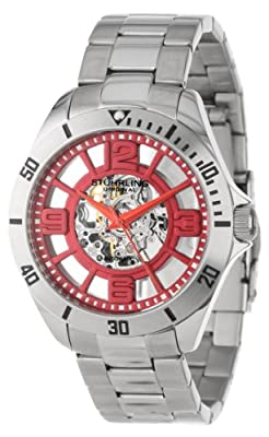 Stuhrling Original Mens Classic Neo Winchester Automatic Skeleton Red Dial Watch