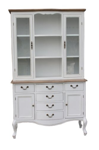 Campanet French Vintage 6 Drawer Large Cabinet, 208 cm, White