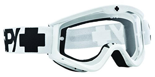 Spy MX Targa3 Motocross Goggles White Clear Af W/ Post Size:One Size
