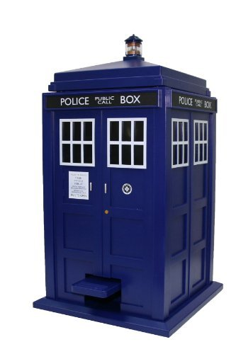 Underground Toys Doctor Who TARDIS Wastebin Trash Can with Flip-Top and Sound (Doctor Who Trash Can compare prices)