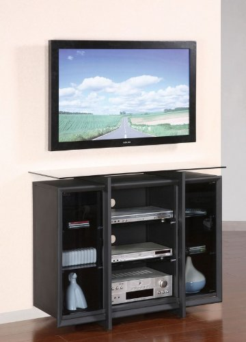 Cheap 42″ TV Media Stand with Wall Bracket in Sandy Black Finish (AZ00-46553×20962)