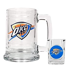 NBA Oklahoma City Thunder Boilermaker Set - Primary Logo by Great American Products